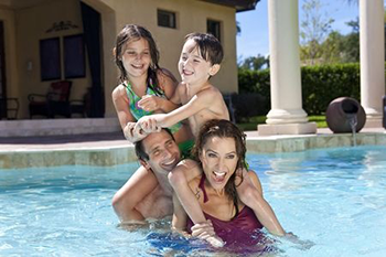 Family Time in the Pool | About Pool Pros, Lawton, Oklahoma